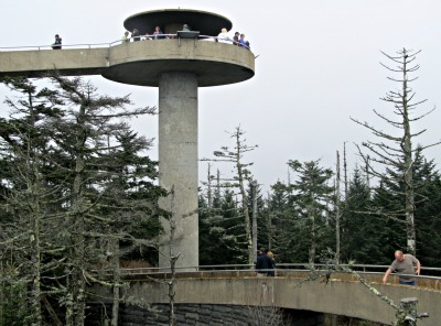 Because Clingman's Dome is located at the top of the Great Smoky Mountains, it offer's a tremendous view!