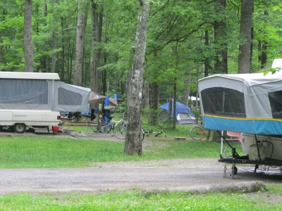 Camping in the Great Smoky Mountains is very popular during every season of the year!
