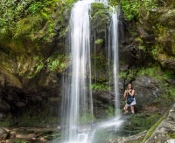 You can actually walk behind Grotto Falls!