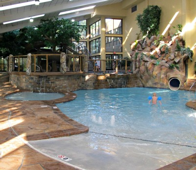 This Hilton Hotels location offers a beautiful indoor pool.