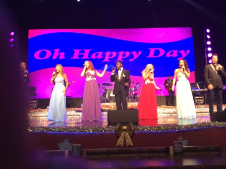 American Hit Parade performs a beautiful gospel music during the show.