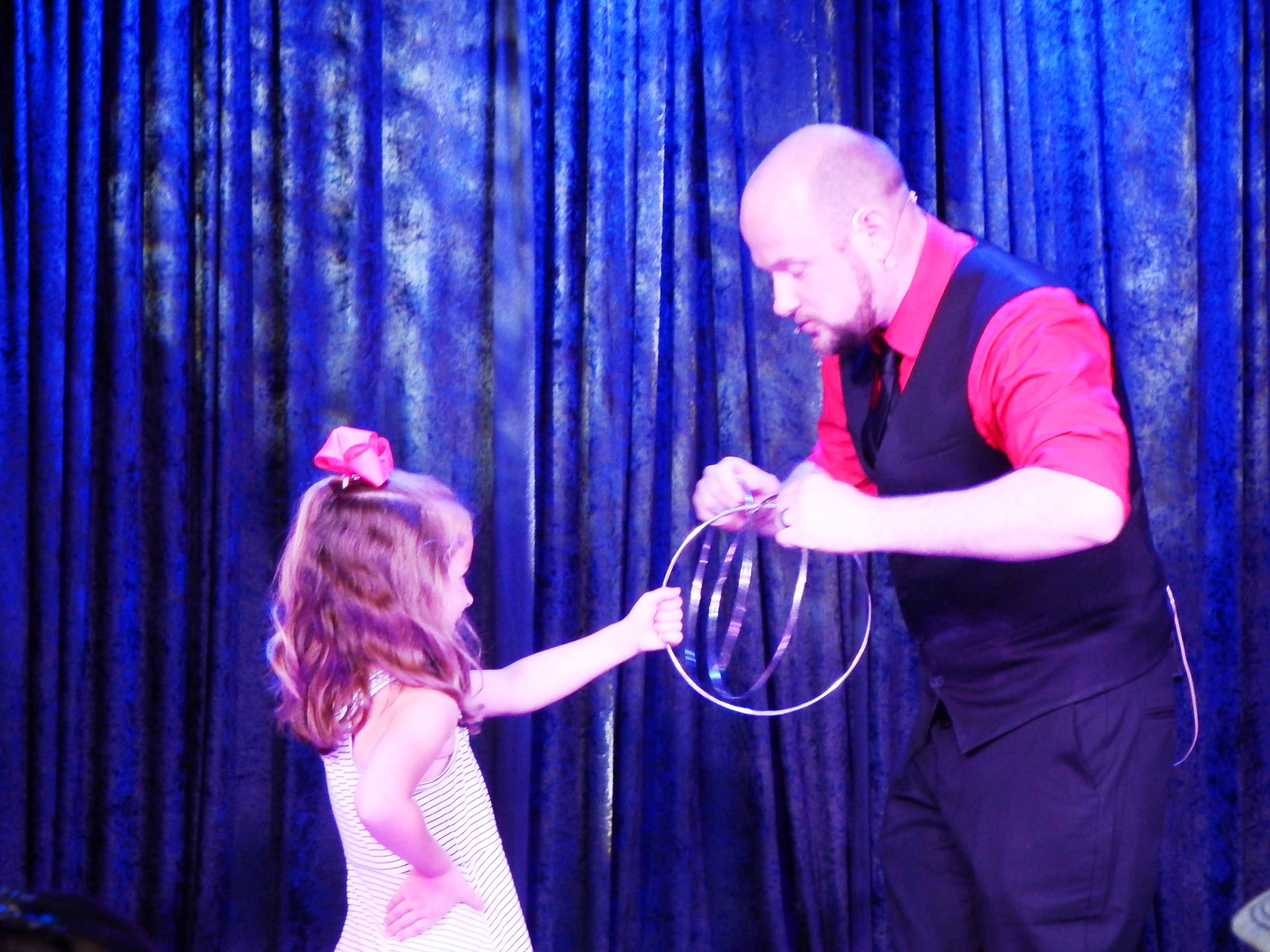 When you visit Impossibilities Magic Show Audience Participation is almost inevitable!!  You could be the next person to join in on the fun!