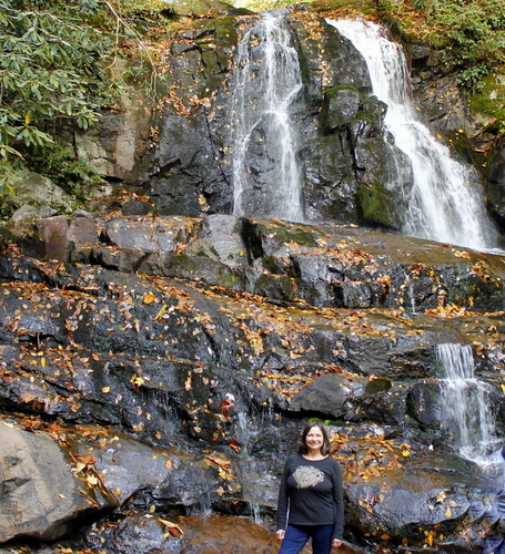 Laurel Falls is a popular destination in the Great Smoky Mountains National Park