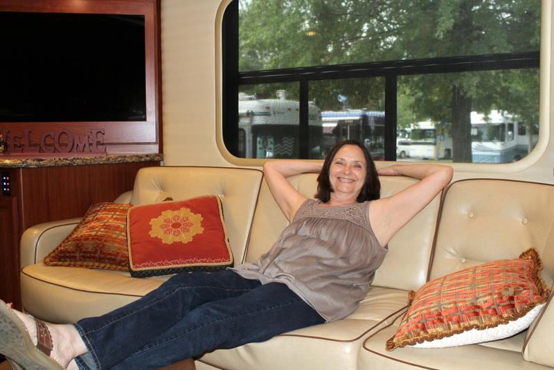 Malia Inside Her RV Loves To Travel