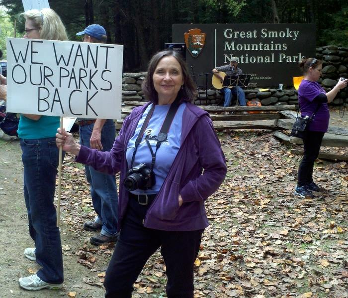 Here's Malia Protesting In The Smokies