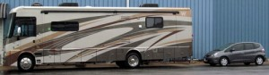 If you watch the highways closely you might just see Malia's RV/Car Combination