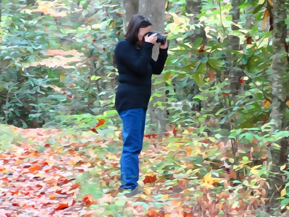 Malia Taking Photos of the Great Smoky Mountains