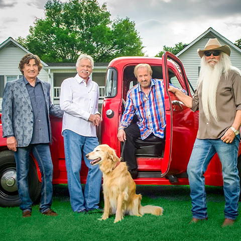 The Oak Ridge Boys concert schedule includes the Country Tonight Theater in Pigeon Forge.