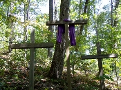 These Parrot Mountain crosses serve as a reminder of a Savior who died to save the world from sin.