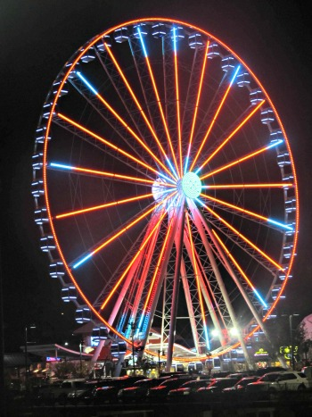The Great Smoky Mountain Wheel is beautiful icon that stands 200 feet high in Pigeon Forge TN.