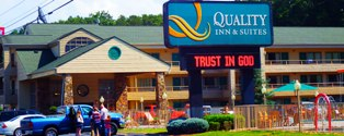 This Pigeon Forge Hotels Quality Inns is not only beautiful, it's the perfect place for a Christian retreat!