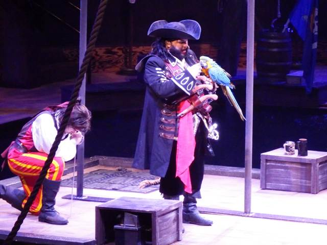 During Pirates Voyage Blackbeard the famous pirate brings others to their needs in his evil feats for the gold.