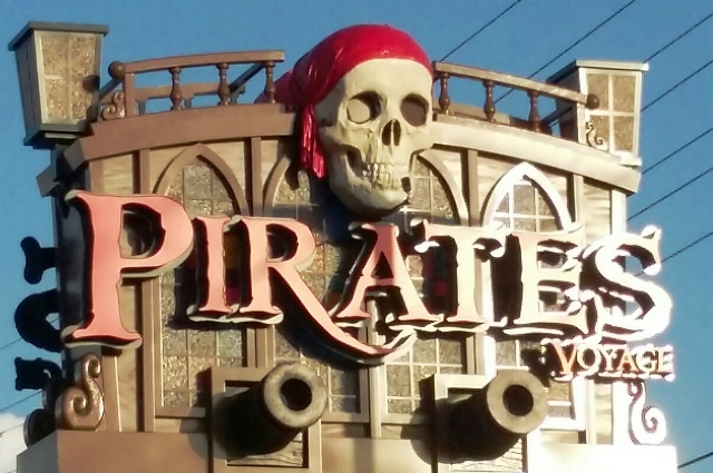 Follow this Pirates Voyage Display Sign Into An Awesome Smoky Mountain Adventure!