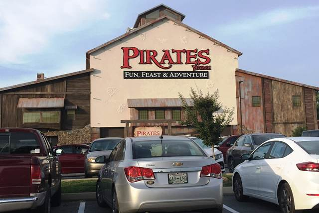The Pirates Voyage Theater sits in the heart of Pigeon Forge