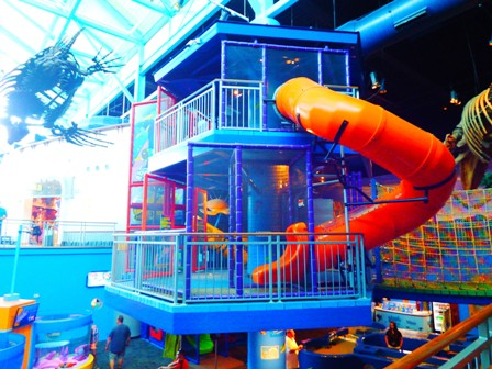 Ripley Aquarium's Children's play area is a favorite for young children!