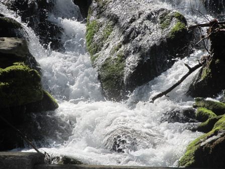 Roaring Fork Falls includes two of the Great Smoky Mountain's most popular waterfalls...Rainbow Falls & Grotto Falls.