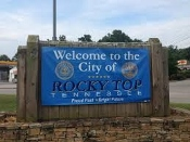 Check out the new Rocky Top city sign