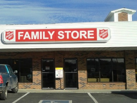 Salvation Army Store has lots of merchandise and gifts at low prices.