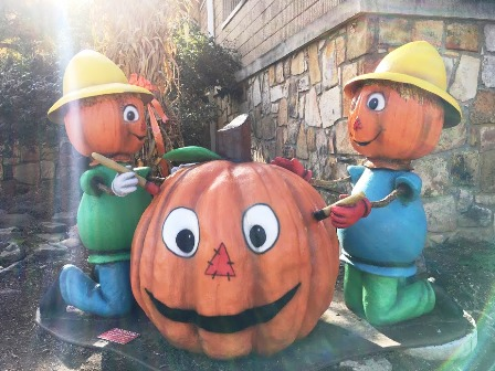 These Season Premier Pumpkins are part of Gatlinburg's Fall Festival Decorations.