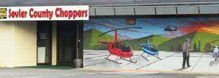 Sevierville Attractions Helicopters offer scenic views of the Smoky Mountains for every member of the family!