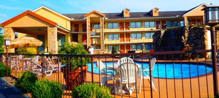 Great places to stay in the Smokies include Sevierville Hotels Quality Inns & Suites River Suites.