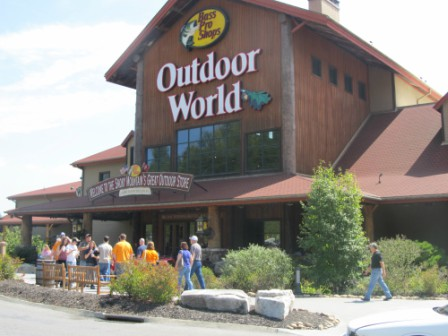 Outdoor World Pro Bass Shop is truly a unique Sevierville Shopping experience.