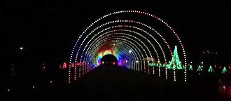 Driving through this Shadrack Christmas Wonderland tunnel is an amazing sight to see.