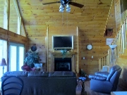 the living room in smoky-mountain-cabin-rentals cabin