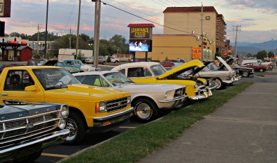 car show happens during smoky-mountain-events in pigeon forge