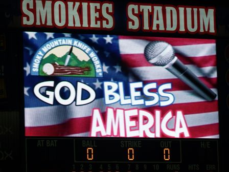 This Tennessee Smokies Baseball Flag billboard is proud to be the
