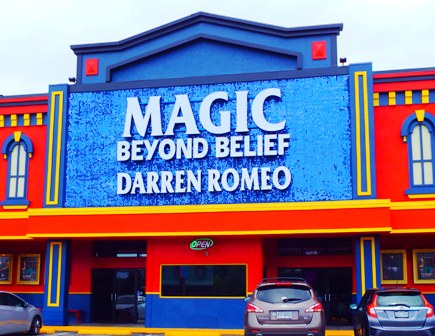 Pigeon Forge Theater Shows include exciting shows like Magic Beyond Belief featuring Darren Romeo.