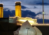 The Titanic after dark with it's beautiful lighting makes the ship replica stand majestically in Pigeon Forge.