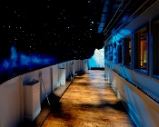 A look from on deck of a Titanic Starry Night.