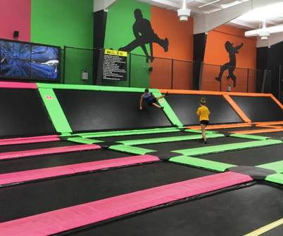 Top Jump Backboard Trampolines are great for creating new stunts.