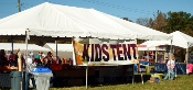 Lots of fun for the kiddies happen under this Wears Valley Fall Festival kids tent!