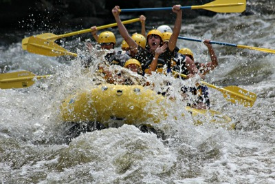 white-water rafting fun