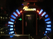 Face your challenge by walking through the WonderWorks Lazer Tag Door.