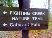 This Cataract Falls Sign Takes You To The Falls!!
