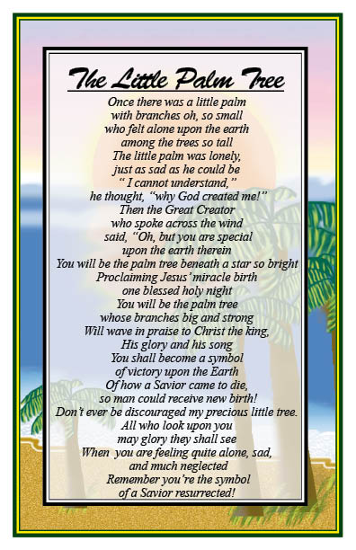 Read christian-poems-5 about The Little Palm Tree