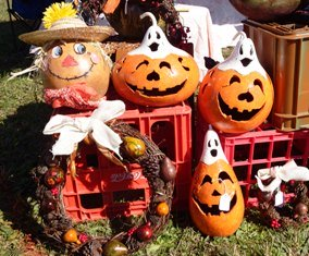 There are lots of beautiful things to choose from at the fall festival shopping booths.