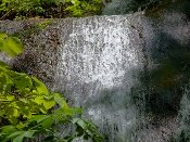 This Fern Branch Falls closeup shows the beauty of the falls
