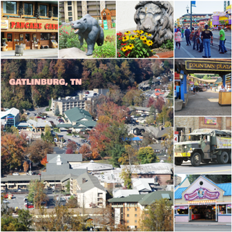 This Gatlinburg Collage shows many of the exciting things to do.