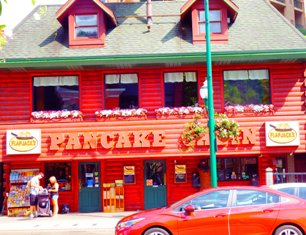 Flap Jack Pancake Cabin is a great place to have breakfast in Gatlinburg.