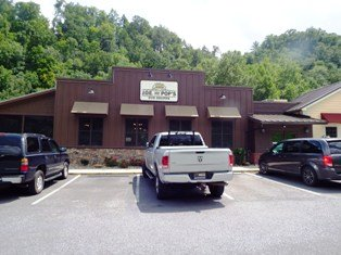 One of the newest of Gatlinburg Restaurants: Joe's and Pop's.
