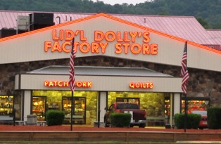 With Pigeon Forge Shopping, Dolly dresses are