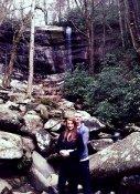 Rainbow Falls Couple Enjoying The Mountains.